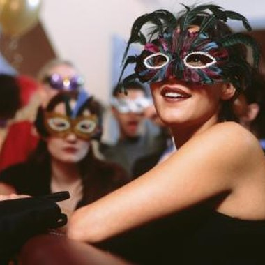 If you're planning to masquerade at your Mardi Gras birthday party, tell guests to bring their masks.