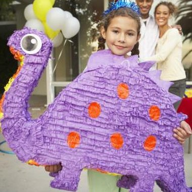 A brontosaurus pinata and a