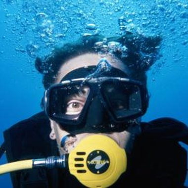 Kids learn the basics of scuba diving at scuba camp.