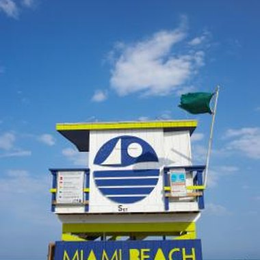 Miami Beach has inexpensive motels near and on the beach.