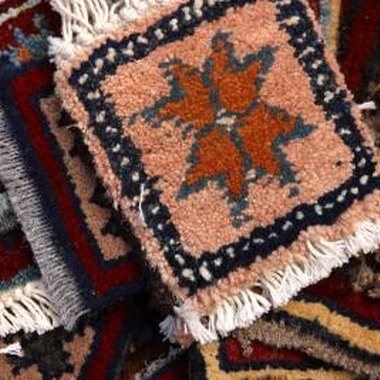 Rag rugs are made and sold by women in New Mexico.