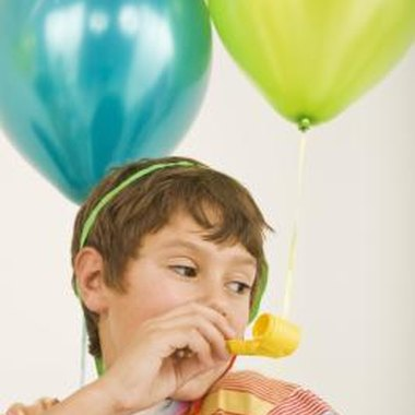Use balloons to create party games for young children.