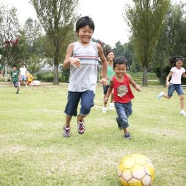 Soccer affords kids an opportunity to learn about teamwork and discipline.