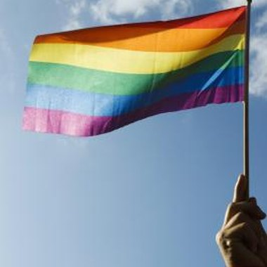 The rainbow flag, representing lesbians, gays, bisexuals and transgendered people.