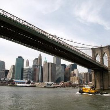 The iconic Brooklyn Bridge provides NYC visitors access to the borough.