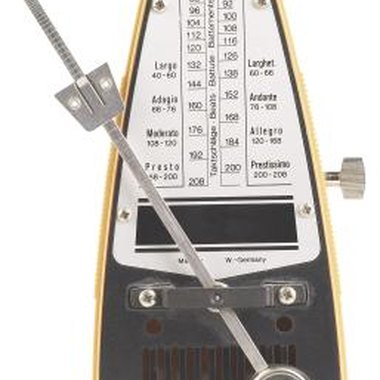 This traditional metronome relies on a setting rather than your touching the speaker.