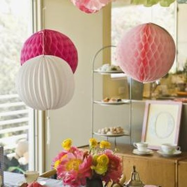 A little decorating goes a long way at a baby shower.