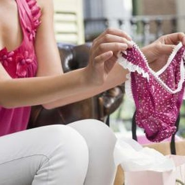 Present the guest of honor with racy lingerie items.