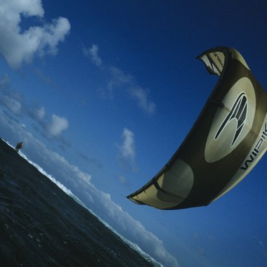 Kiteboarding is very popular in Hawaii.