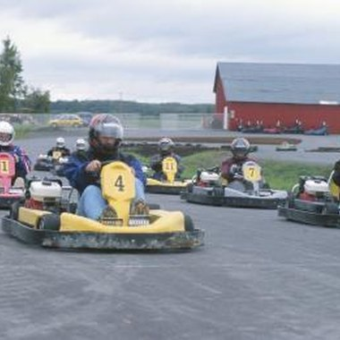 Numerous places in the Atlanta area offer people the opportunity to race go-karts.