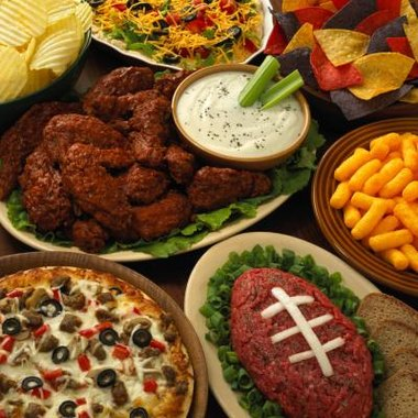 Serve food in the shape of sports equipment at your party.