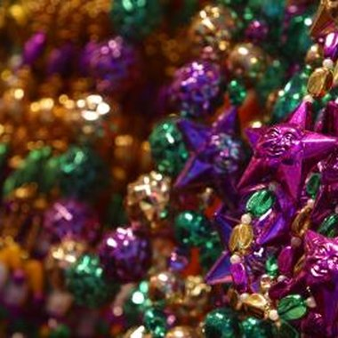 The purple, green and gold beads stand for justice, faith and power.