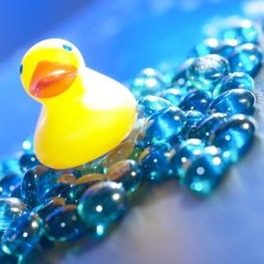 Let rubber ducks be the decorative theme for a baby shower.