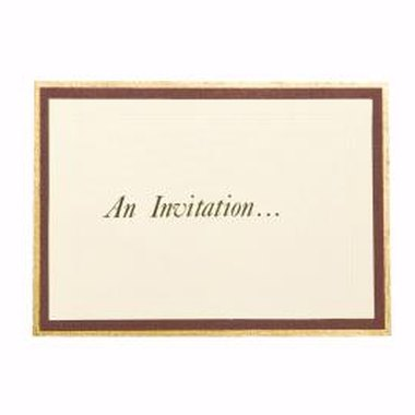 Always include all pertinent information on your invitations.