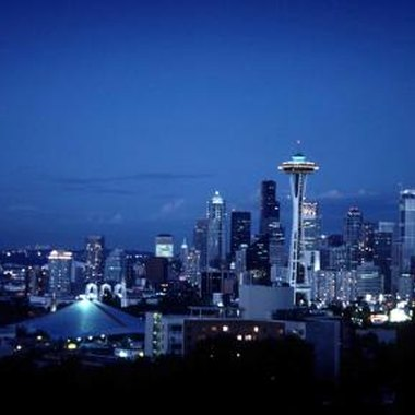 The world-famous Space Needle makes Seattle's skyline easy to identify.
