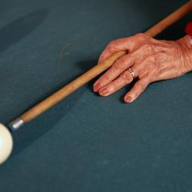 Pool cues can be made from more than a dozen different types of wood.