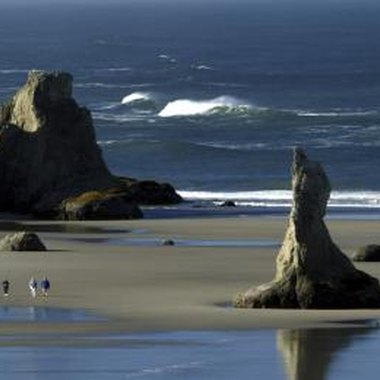 Oregons's beaches are a combination of sculpture and sand.