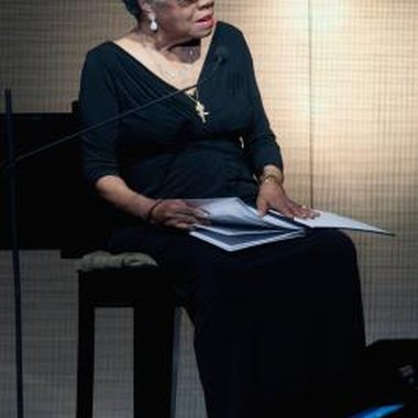 Maya Angelou is an author, poet, film director and civil rights activist.