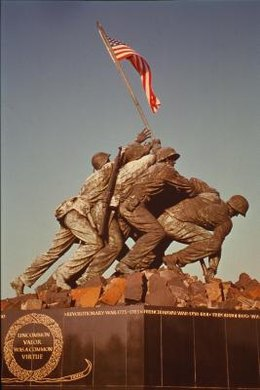 More than 6,800 men died and 19,217 were wounded on Iwo Jima.