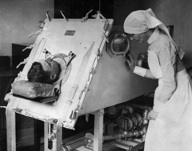 The iron lung saved many lives during the polio epidemics of the early 20th century.