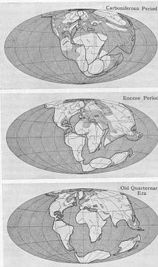 An early depiction of the movement of the continents.