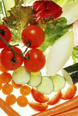 To reduce calories, eat more watery vegetables.