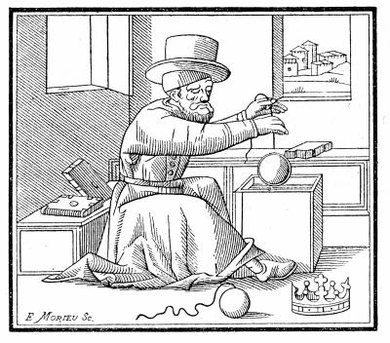 Archimedes determined a crown's purity using pressure and buoyant force.