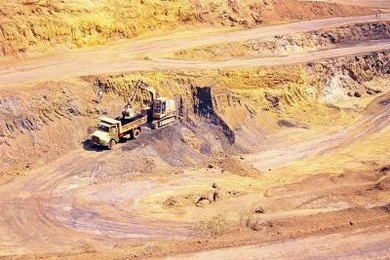 Iron ore can be mined commercially.