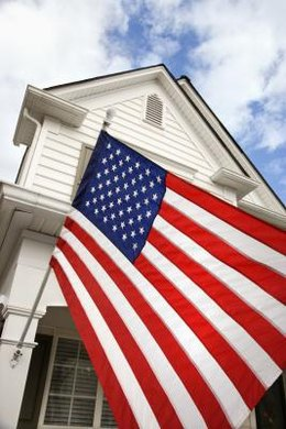 Residential American Flag Hanging Etiquette The Classroom Synonym