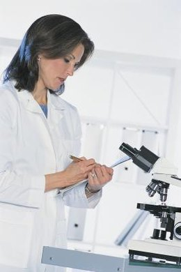 Crime lab analysts conduct most of their work in a laboratory.