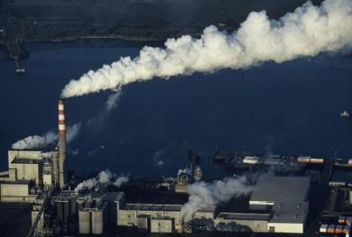 Air pollution causes an increase in greenhouse gasses, which causes climate change.
