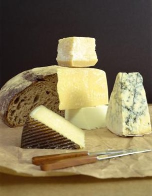 Many types of cheese begin with milk coagulated by an enzyme known as rennin.