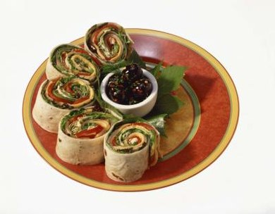 Wraps provide an element of color in addition to being delicious.