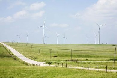 Wind farms can be effective in windy locations.