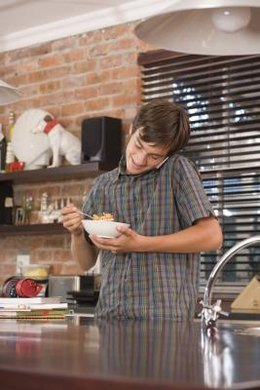 Teenagers who skip breakfast may not get enough vitamins and minerals in their diets.