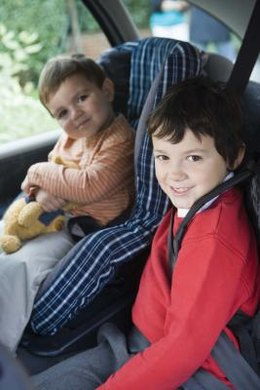 The back seat is safer than the front in the event of a collision.