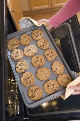 Baked cookies come out golden brown, but tender.
