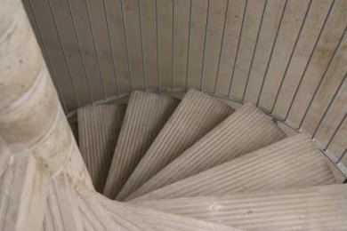 Spiral stairs are one of the many vortic images that reappear in Yeats' poems.