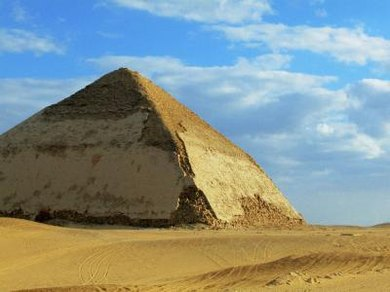 The Bent Pyramid in Dahshur has a unique look.
