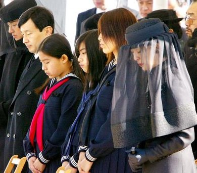 Most Japanese funerals are conducted as Buddhist ceremonies.