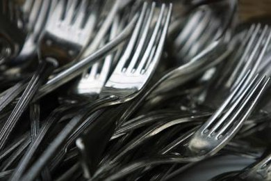 Though we often call it silverware, cutlery is commonly made from stainless steel.