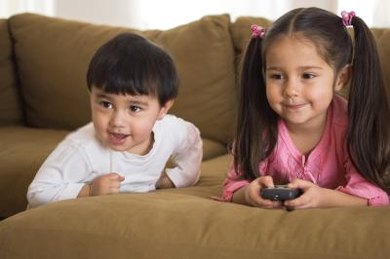 Watching television can affect children's brain development.