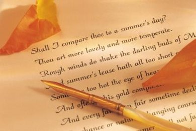 Poems, including William Shakespeare's sonnets, can be cited in a number of writing styles.
