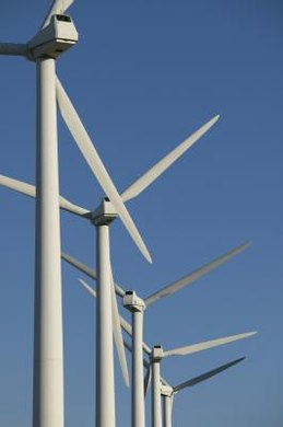 The widely used horizontal wind turbine operates at high efficiency.