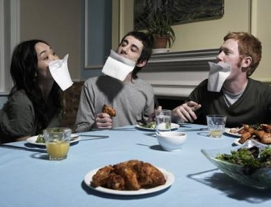Are they crazy or just breaching the norm of dinner conversation?