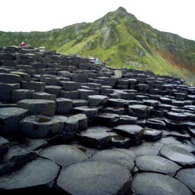 When volcanic rock fractures into polygonal columns, it is called a columnar joint.