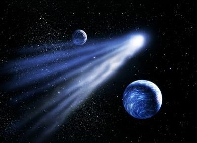 Comets travel billions of miles to pay Earth a visit.