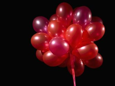 The low-density makeup of helium allows balloons to float.