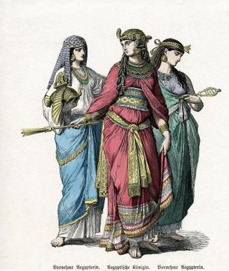 Egyptian queens had attendants that served their needs.