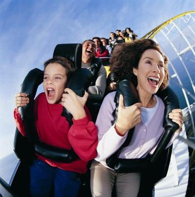 Amusement park rides are constantly transforming kinetic energy.